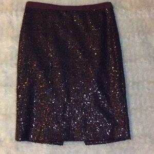 Super cute j crew purple sequined skirt
